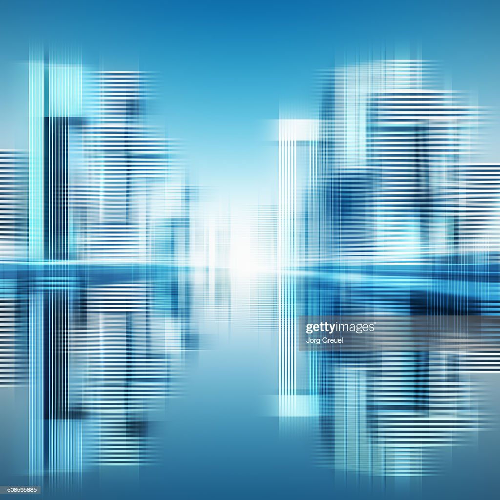 Futuristic cityscape : Stock-Illustration