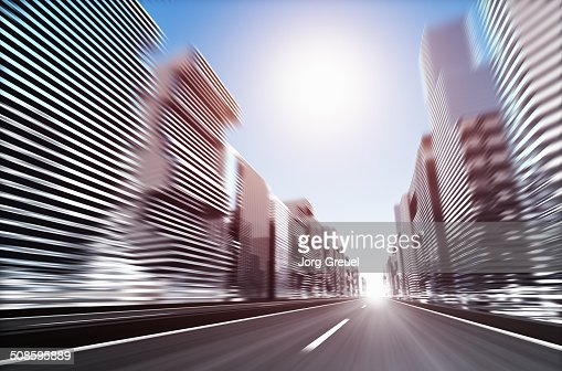 Futuristic cityscape : Stock Illustration