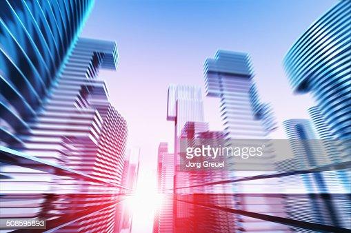 Futuristic cityscape : Ilustração de stock