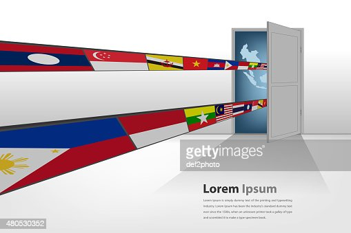 Gateway to asian (AEC) : Stock Illustration