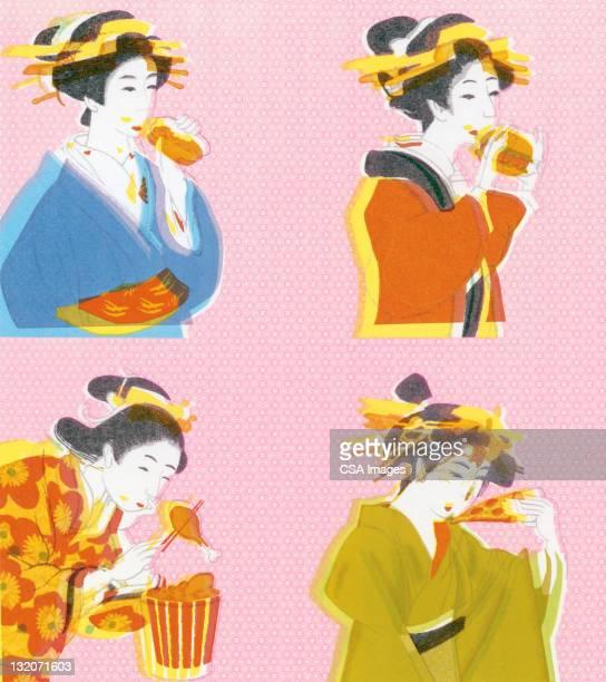Geisha Girls Eating