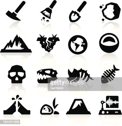 Geology icons : stock vector