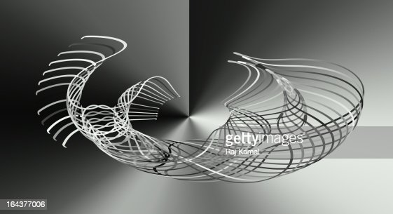 Geometric black and white design.Digital. : Stock Illustration