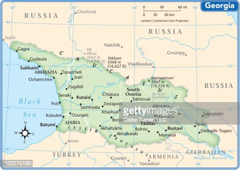 Turkmenistan Country Map Vector Art Getty Images - Georgia kobuleti map