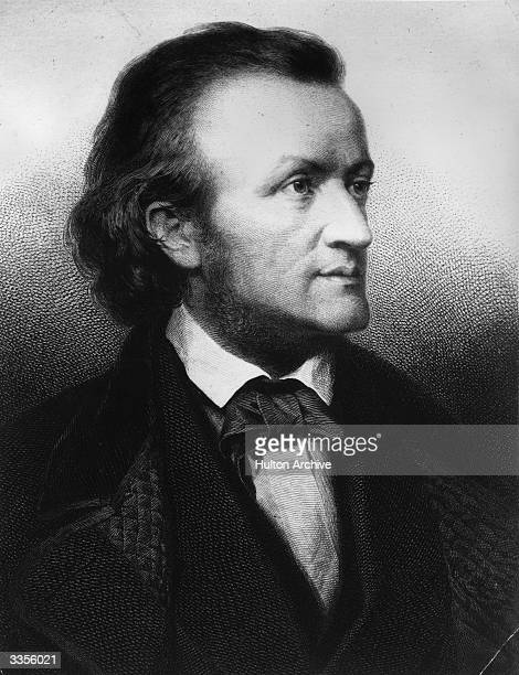 German composer and musical theorist Richard Wilhelm Wagner circa 1850 Original Artwork Engraved by J Bankel from a painting by C Jager
