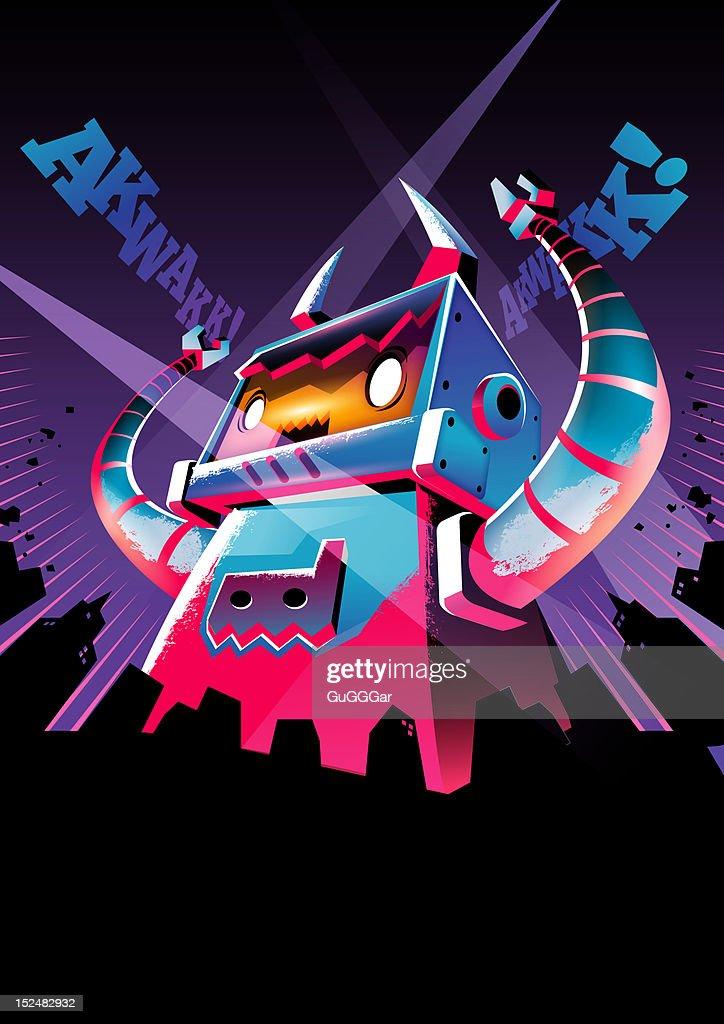 Giant Invader : Stock Illustration