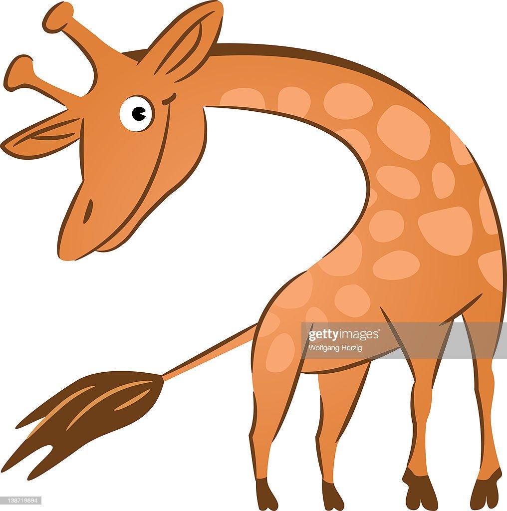 A giraffe : Stock Illustration