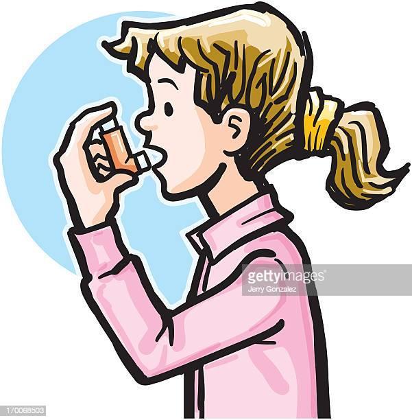 Asthma cartoon poster stock illustration. Illustration of ...