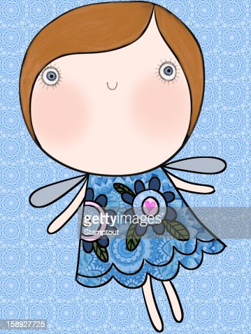 A girl with butterfly wings : Stock Illustration