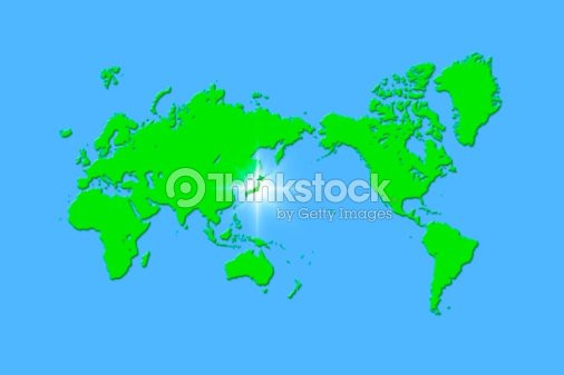 Global map with japan highlighted stock illustration thinkstock global map with japan highlighted stock illustration gumiabroncs Gallery