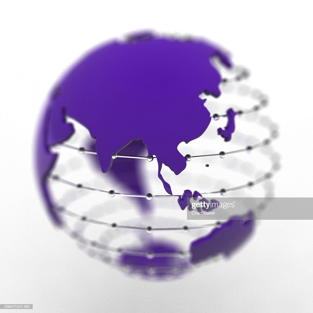 Globe with Asia prominent : Stock Illustration