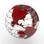 Globe with North America and Central America prominent (Digital)