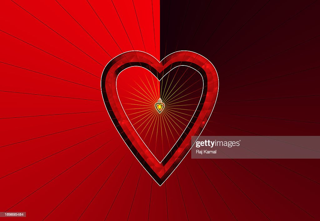 Glowing Heart. Abstract Design : Stock Illustration