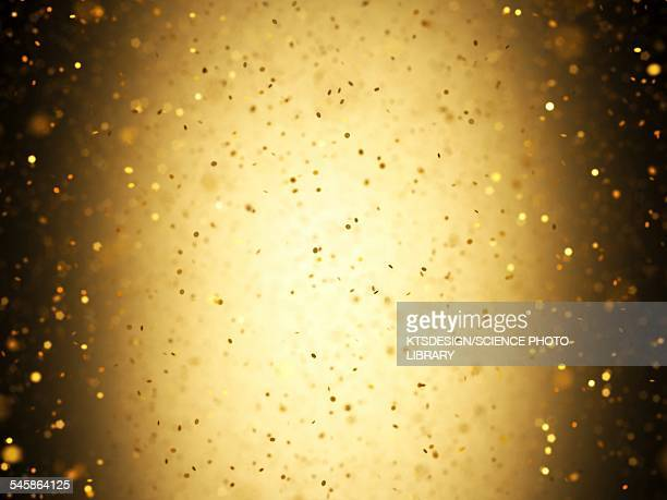 Gold confetti, illustration