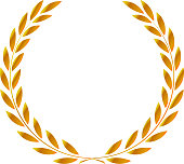 icon laurel wreath - illustration gold, dark icon laurel