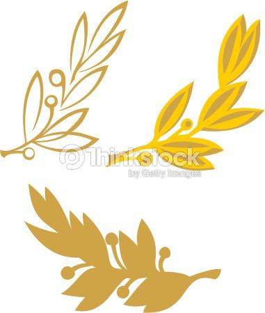 Oro Olive Branch Arte vectorial   Thinkstock Оливковая Ветвь Вектор