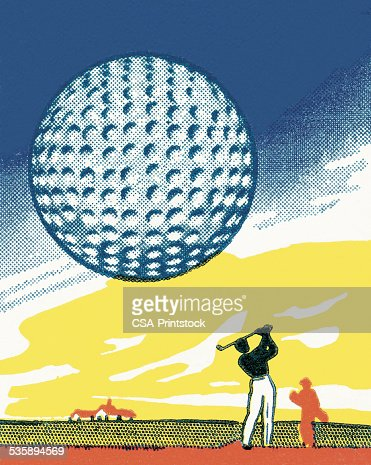 Golf Ball : Stock-Illustration