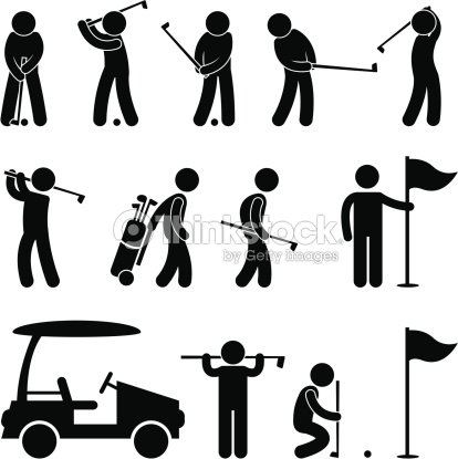 Golf game pictogram vector art thinkstock for Eight ball tattoo removal