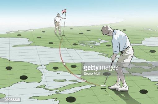Golfer : Stock Illustration