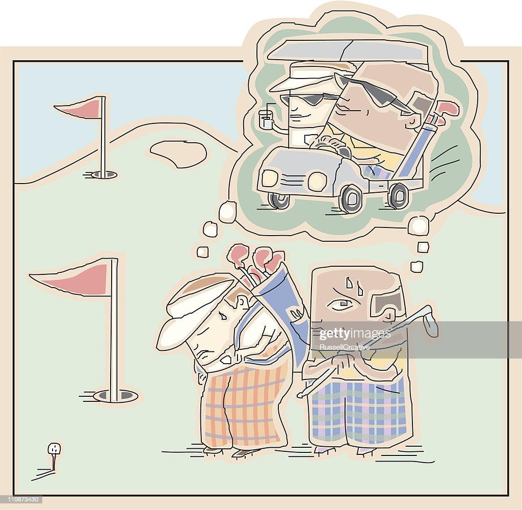 Golfer's Dream : Vector Art