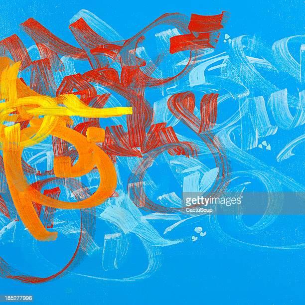 Graffiti paint.