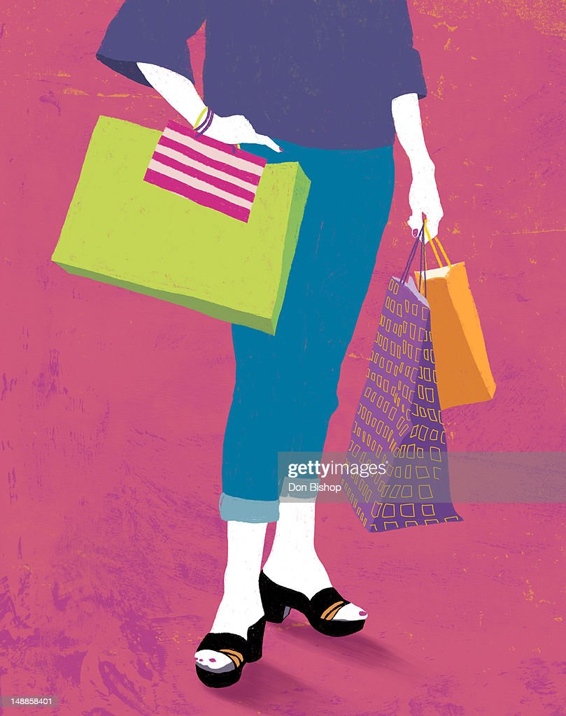 Graphic shopping illustration : Stock Illustration