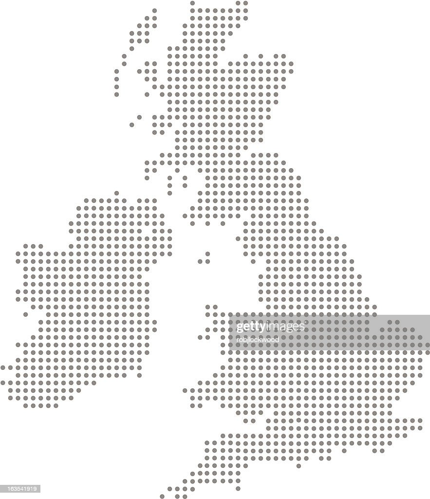 great britain and ireland dot map vector art getty images