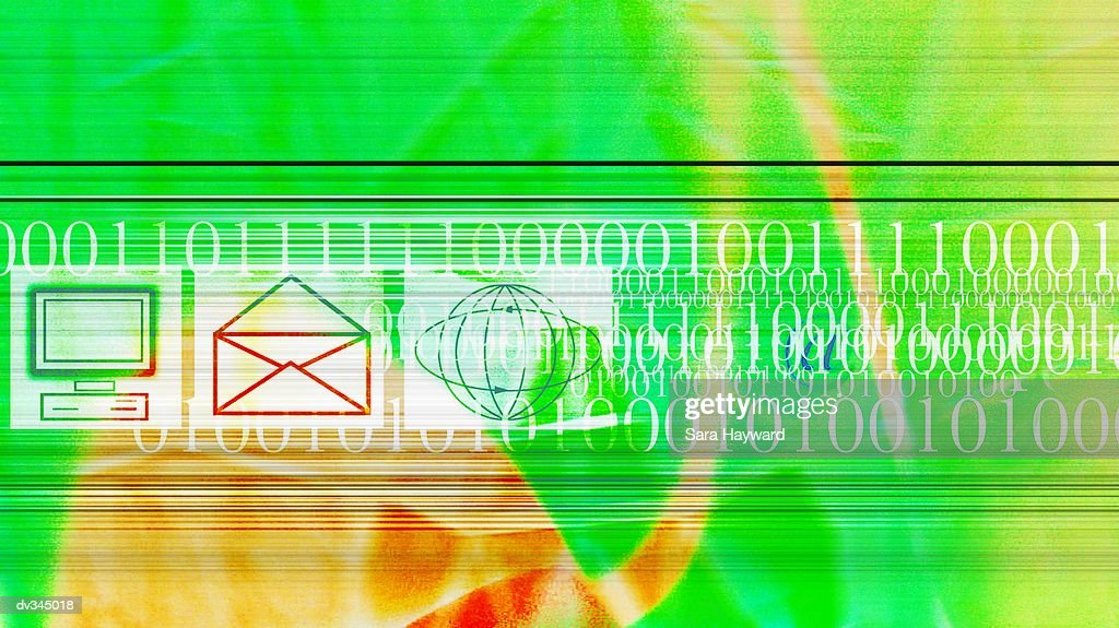 Green abstract of internet technology : Stock Illustration