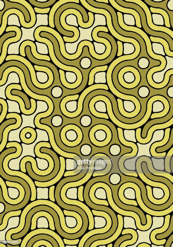 Verde padrão : Ilustração de stock