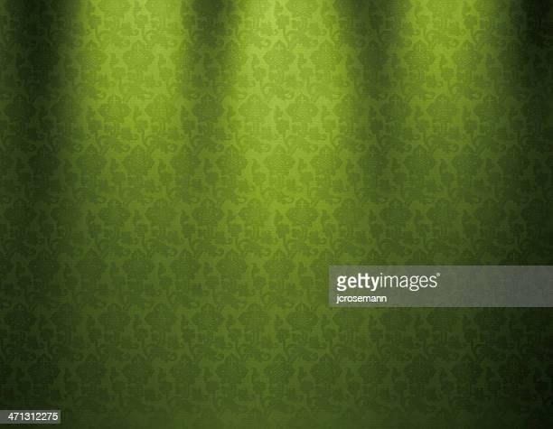 Verde Vintage papel pintado