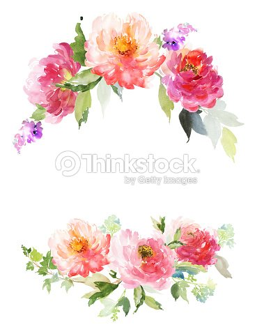 Greeting card with peonies watercolor painting stock illustration greeting card with peonies watercolor painting stock illustration m4hsunfo