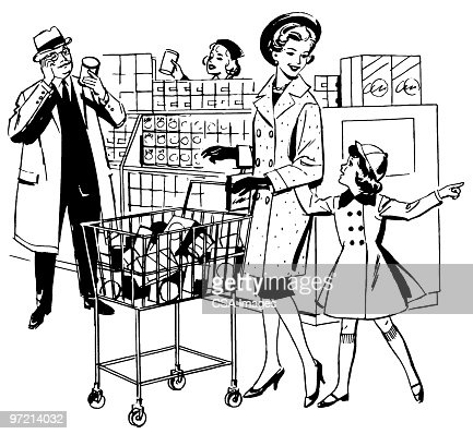 grocery clipart black and white 39458 infobit