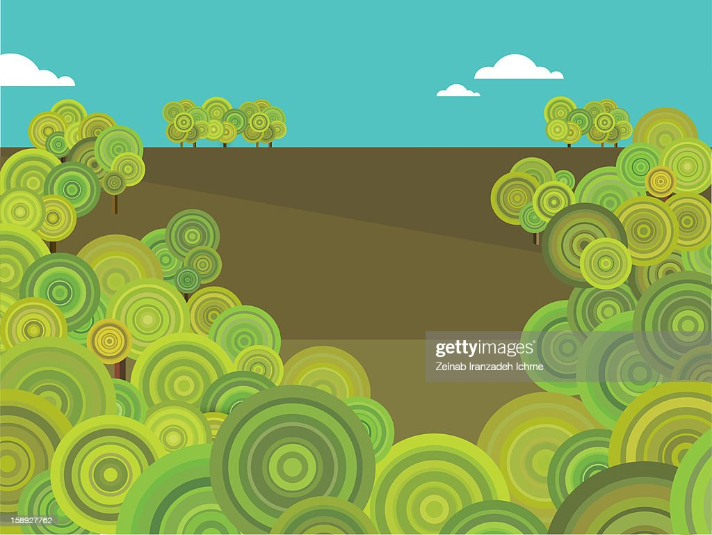 Groups of trees : Stock Illustration