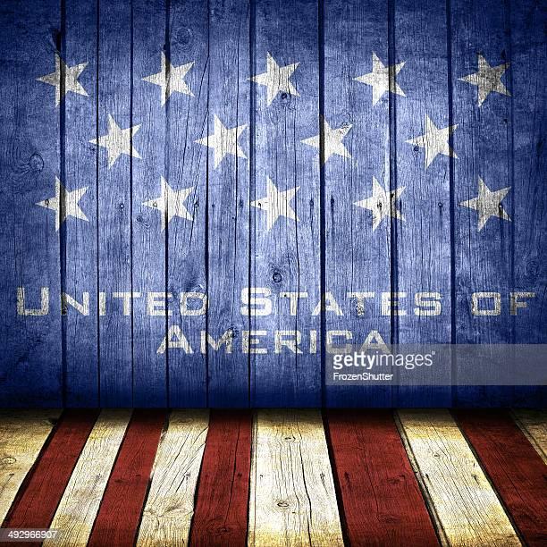 Grunge Flag United States of America