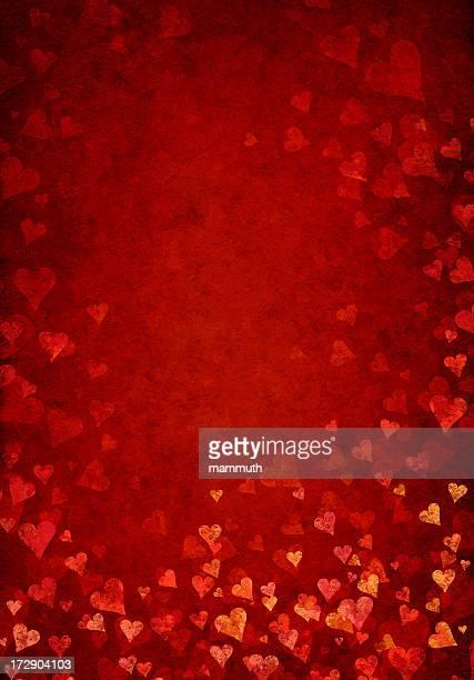 grunge heart blossom background
