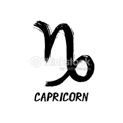 Grunge Zodiac Signs Capricorn The Goathorned Stock Illustration