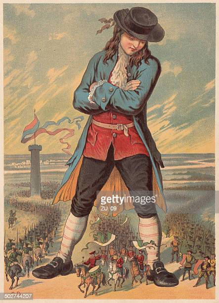 Gulliver in the island country of Lilliput, lithograph, published c.1880