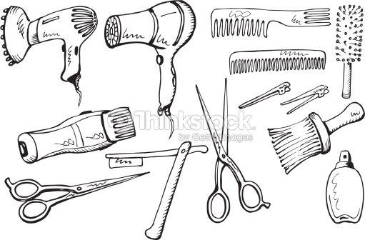 Hairdresser Equipment Set Vector Art