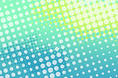 Half Tone Background - Brightly Colored Aqua Green Yellow