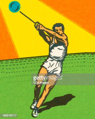 Hammer Throw Stock Illustration | Getty Images Hammer Throw Technique