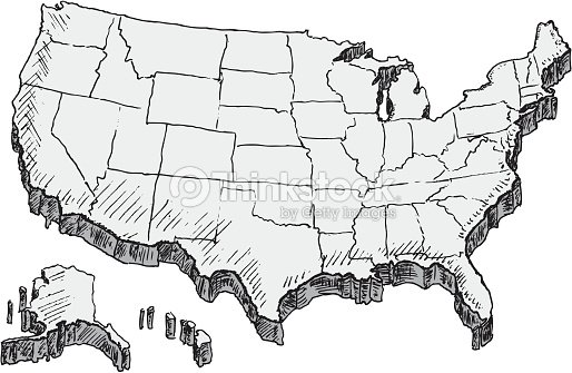 Hand Drawn Us Map Vector Art Thinkstock - Hand drawn us map vector