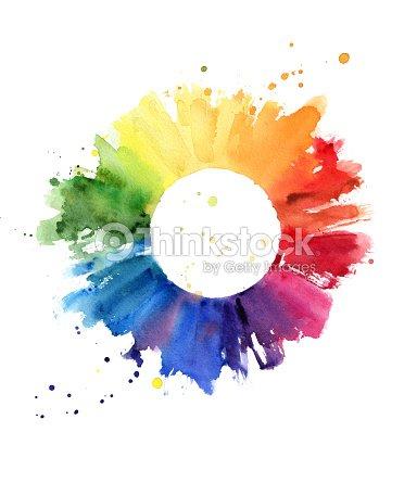 Handmade Color Wheel Stock Illustration