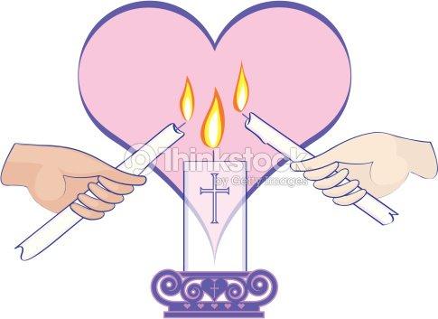 Hands Lighting Unity Candle Vector Art