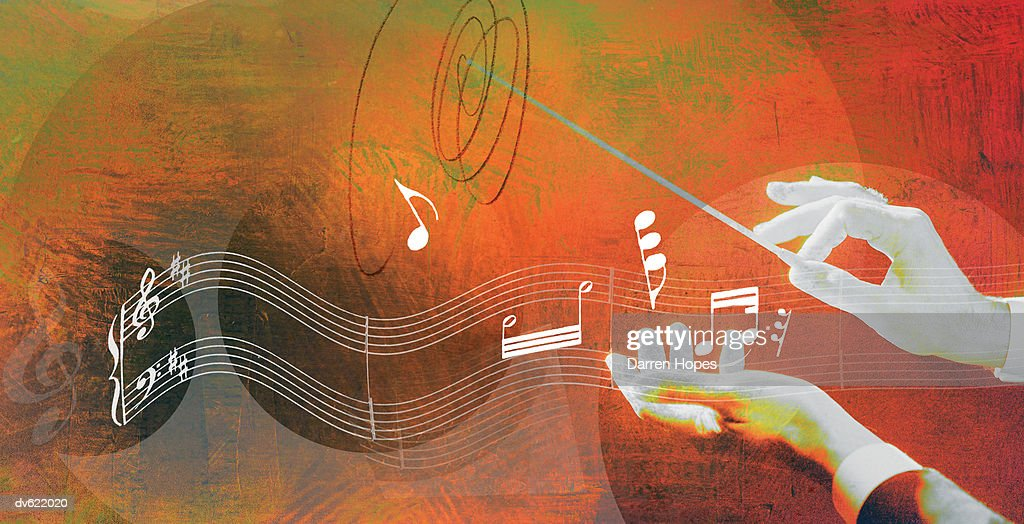 Hands of Conductor : Stock Illustration