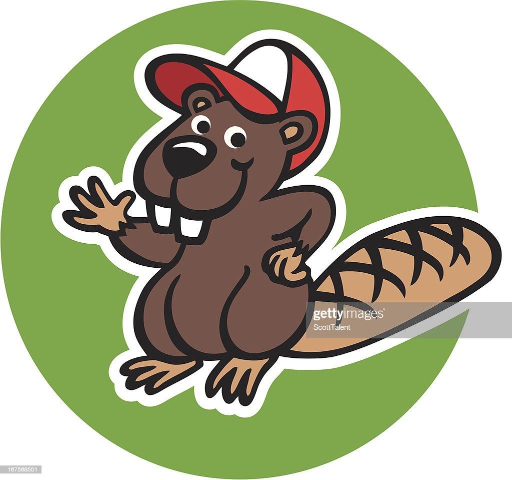 happy beaver vector art getty images