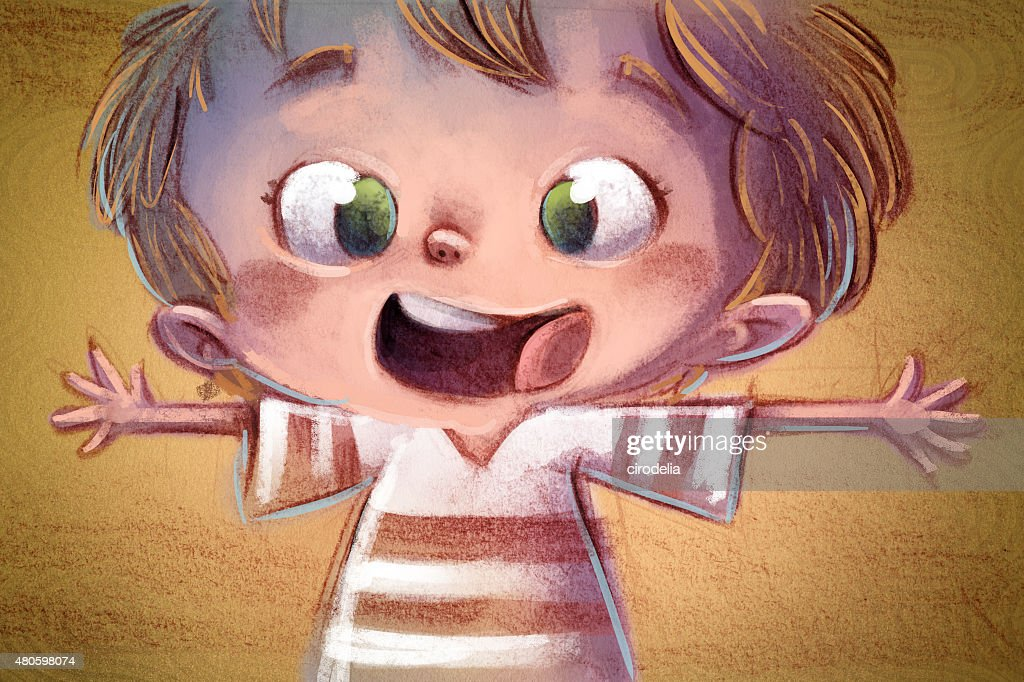 niño feliz : Stock Illustration
