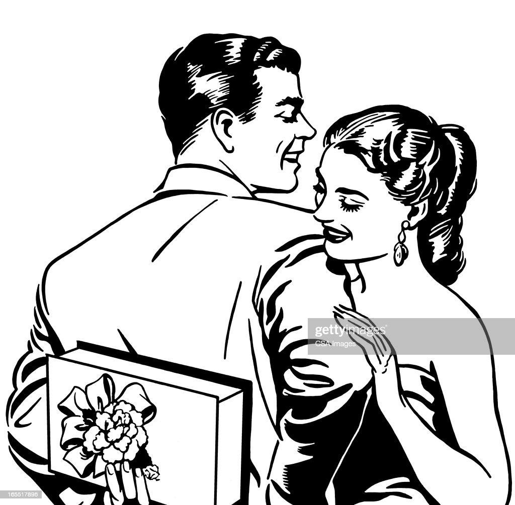 Happy Couple : Stock Illustration