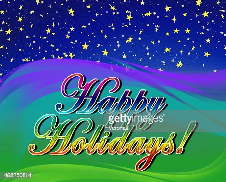 Happy Holidays Greeting Card Message Stock Illustration  Thinkstock