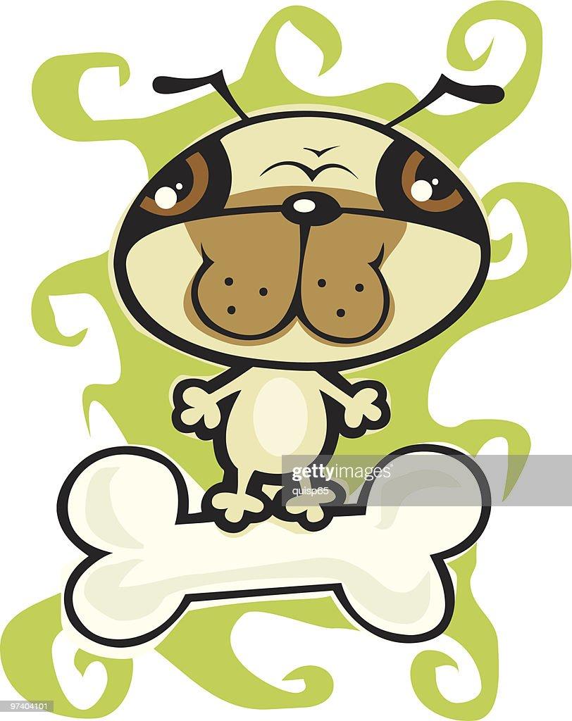 Happy Pug : Vector Art