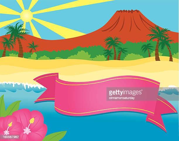 Hawaiian Hintergrund mit Banner